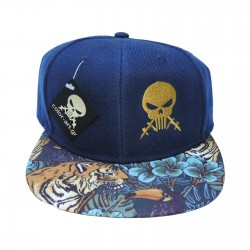 Cap Color Art Tiger Blue